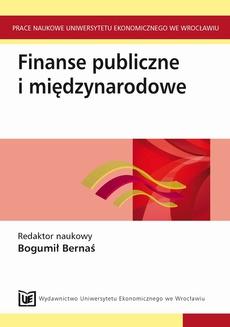 Finanse publiczne i międzynarodowe