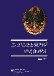 Z Dziejów Prawa. T. 7 (15) - 15 Kronika
