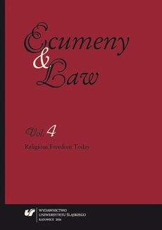 """""""Ecumeny and Law"""" 2016. Vol. 4 - 13 Conscientious Objection in Current Czech Law"""