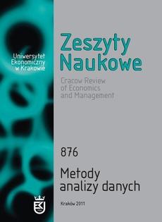 Zeszyty Naukowe Uniwersytetu Ekonomicznego w Krakowie, nr 876. Metody analizy danych