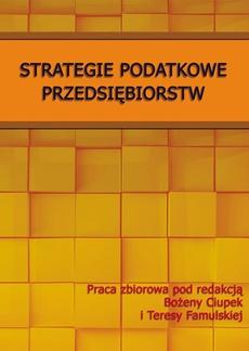 Strategie podatkowe przedsiębiorstw