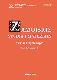 Zamojskie Studia i Materiały. Seria Fizjoterapia. T. 15, z. 1