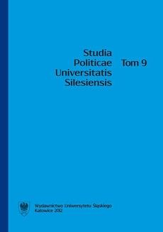 Studia Politicae Universitatis Silesiensis. T. 9 - 15 Rola organizacji mniejszości niemieckiej w rozwoju społeczno-gospodarczym i integracji społeczeństwa województwa opolskiego