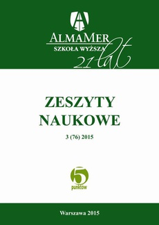 Zeszyty Naukowe ALMAMER 2015 3(76) - Ewolucja definicji zespołu policystycznych jajników | EVOLUTION OF POLYCYSTIC OVARY SYNDROME'S DEFINITION