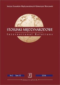 Stosunki Międzynarodowe nr 2(52)/2016 - Kate Sullivan de Estrada, Nicholas J. Wheeler: Trustworthy Nuclear Sovereigns? India and Pakistan after the 1998 Tests