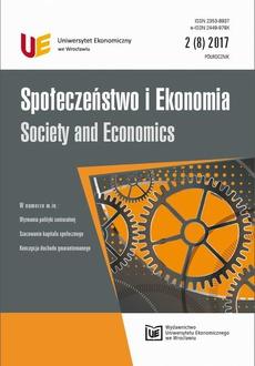Społeczeństwo i Ekonomia 2(8) 2017