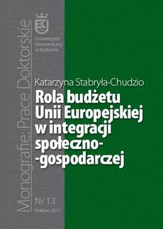 Rola budżetu Unii Europejskiej w integracji społeczno-gospodarczej