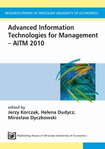 Advanced Information Technologies for Management AITM 2010
