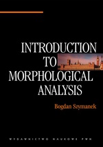 Introduction to Morphological Analysis