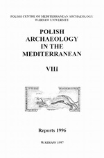 Polish Archaeology in the Mediterranean 8
