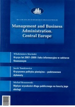 Management and Business Administration. Central Europe - 2013 - 2
