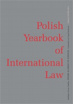 2013 Polish Yearbook of International Law vol. XXXIII