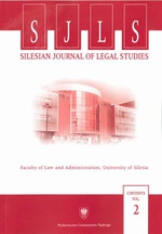 """Silesian Journal of Legal Studies"". Contents Vol. 2"