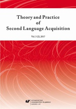 Theory and Practice of Second Language Acquisition 2017. Vol. 3 (2)
