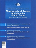 Management and Business Administration. Central Europe - 2012 - 2