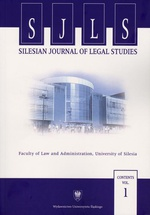 """Silesian Journal of Legal Studies"". Contents Vol. 1"