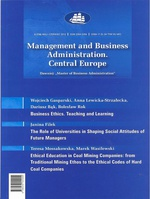 Management and Business Administration. Central Europe - 2012 - 3