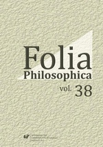 Folia Philosophica. Vol. 38