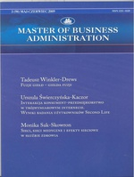 Master of Business Administration - 2009 - 3
