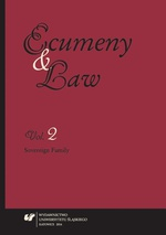 """Ecumeny and Law"" 2014, Vol. 2: Sovereign Family - 11 Legal Protection of the Institutional Value of Marriage"